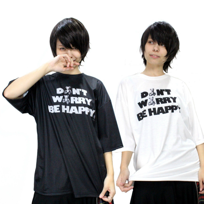 DON'T WORRY BE HAPPY テディプリントTシャツ